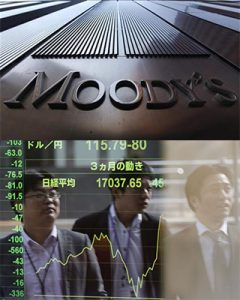 Japans debt rating downgraded Moody