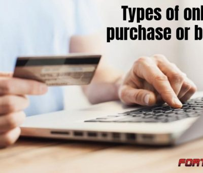 Types of online purchase or buying